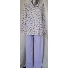 Дамска пижама с копчета 100% памук