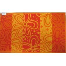 Хавлиена кърпа 30/50 Цветя в оранжеяо