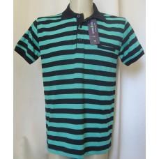 Мъжка риза трико к.р. райе зелено