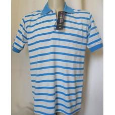 Мъжка риза к.р. трико бяло и синьо