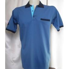 М. риза трико къс ръкав, синьо