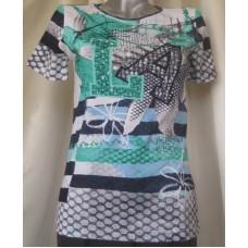 Блуза к.р. 100% П, зелено